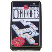 Domino játék fémdobozban 28db-os készlet (GE)