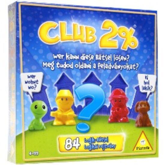 Club 2% - Ki hol lakik logikai játék Piatnik (236) (PI)