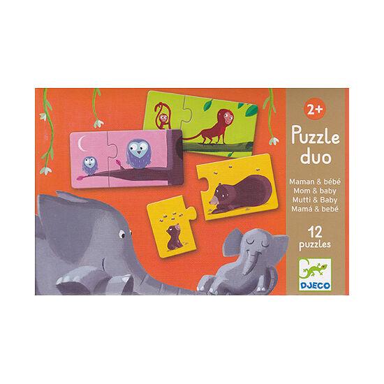 Puzzle duo állatok és kicsinyeik - DJ8157 Djeco