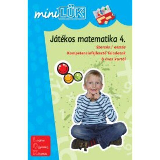 "Játékos matematika 4. LÜK Mini LDI221 (DI) ""Utolsó darabok"""