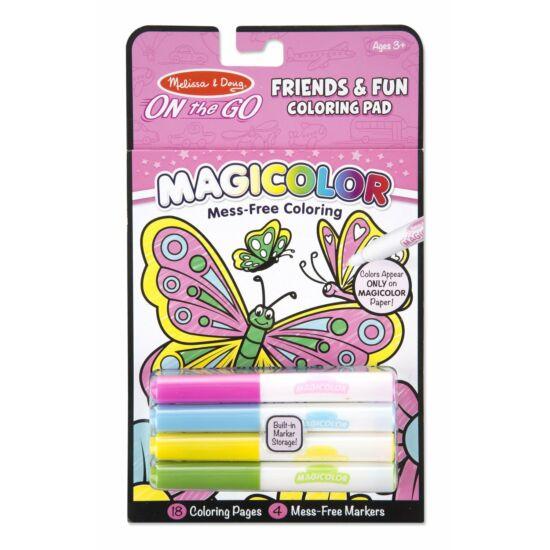 Pillangós színező 4db filctollal - Melissa Doug 19134 (ME)