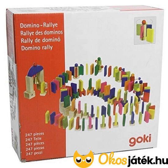 """Dominó futam, 247 darabos fa dominó express - dominó pálya építő játék - Goki 58963 (GO) """"utolsó darabok"""""""
