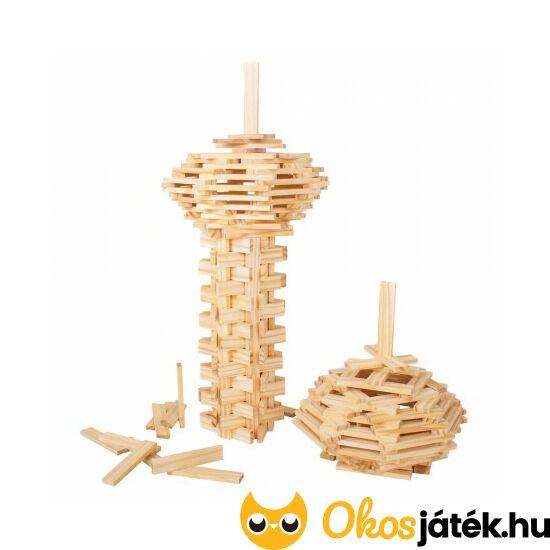 """Natúr fa lapkák építőjáték gyerekeknek, 200db - BJ645 (BI) """"Utolsó darabok"""""""