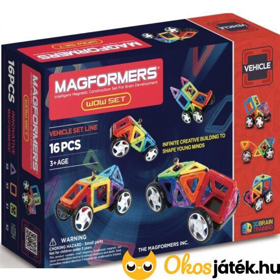Magformers Wow Set! Starter mágneses autó építőjáték 16elem (DM)
