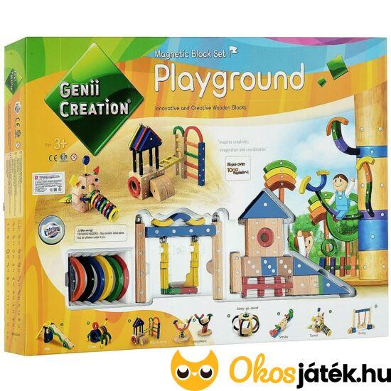 Mágneses fa építőjáték - Genii Creation Playground 259-77