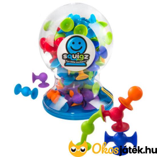 Tapadókorongos építő játék, NAGY KÉSZLET - Squigz 50 darabos készlet - Fatbraintoys (KW)