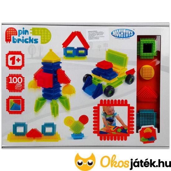 Tüskejáték, tüske építő játék nagy készlet 100db-os MochToys PinBricks 11288 (JN)