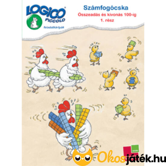 """LOGICO Piccolo 3480 - Számfogócska: Összeadás és kivonás 100-ig 1. rész 6+ (TF) """"utolsó darabok"""""""