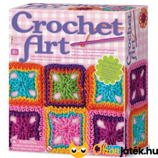 Horgoló készlet gyerekeknek - 4M Horgoló művészet Crochet 55557 (RE) 2737
