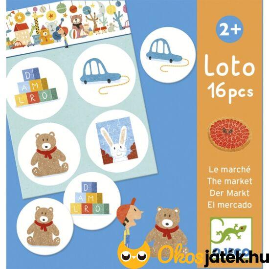 Lotto játék piciknek - Bevásárlás - párosítós játék - Djeco 8125 (BO)