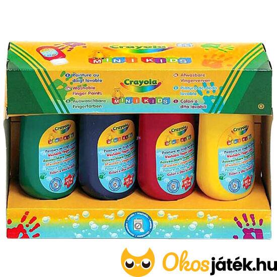 Crayola lemosható ujjfesték 4db-os (MH)