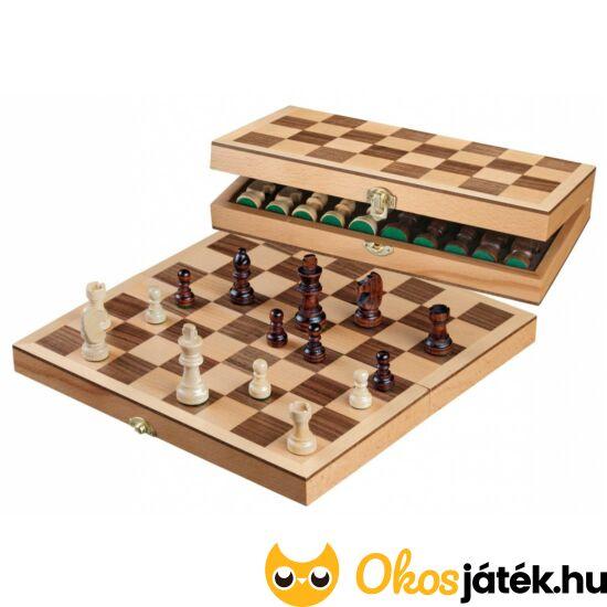 Philos sakk játék készlet fából 33mm-es mezőmérettel - 30*30cm - PG 2708