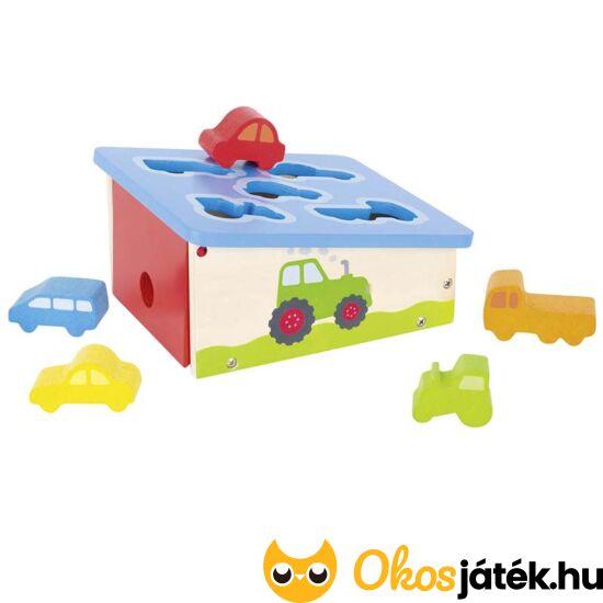 Goki autós formaberakó fajáték gyerekeknek 58668 (GO)