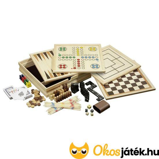 10 az 1-ben játékgyűjtemény fából - Philos, közepes  - PG 3098
