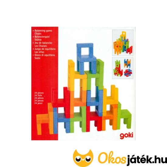 Goki kis fa székes építő-ügyességi játék  - 56929 (GO)