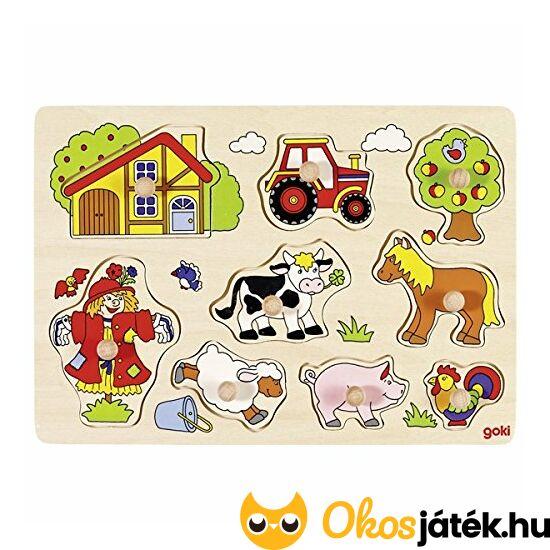 Goki fogantyús puzzle farm  - 57995 (GO)
