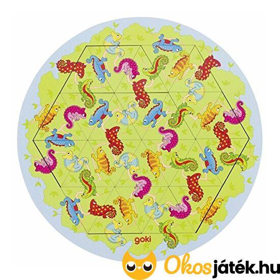 """Goki háromszög puzzle- Kaméleon  - 57488 (GO) """"Utolsó darabok"""""""