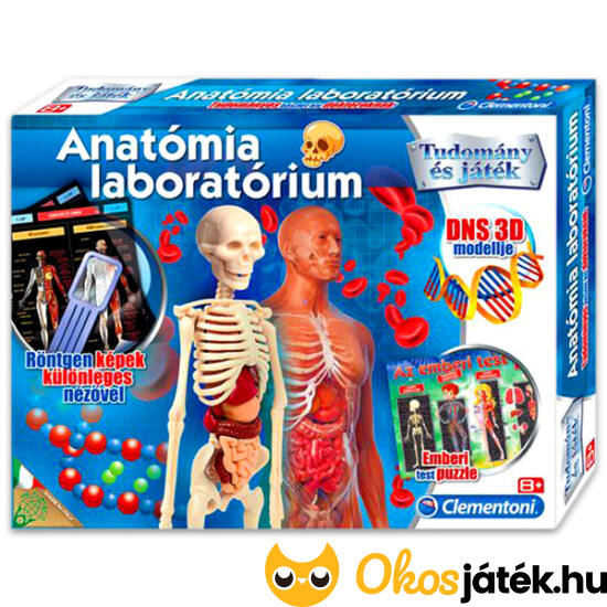 "Clementoni Anatómia laboratórium - 64989 (MH) ""utolsó darabok"""