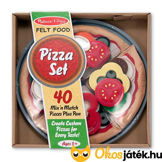 Filc pizza készítő szett - Melissa Doug 13974 (ME-R3)