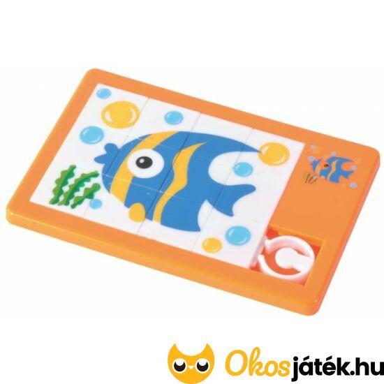 Tologatós kirakó puzzle Halacskás - többféle, választható formával - EP 130216 - Narancssárga