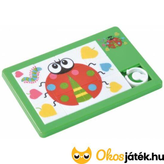 Katicás tologatós kirakó puzzle - EP 130216 - Zöld