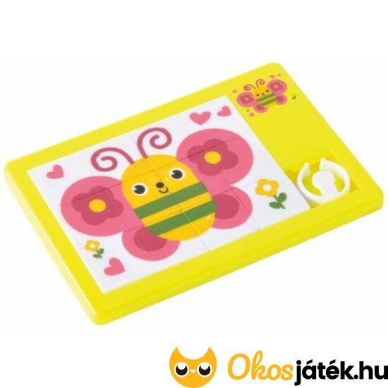 Pillangós tologatós kirakó puzzle - EP 130216 - Sárga