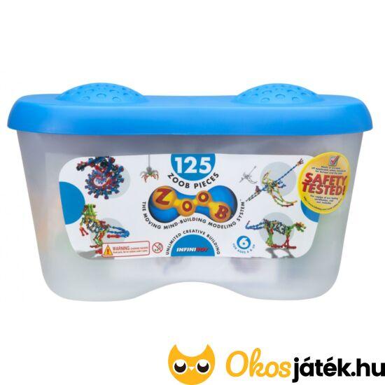ZOOB 125 db-os építőjáték műanyag tároló dobozban 11125 (KW)