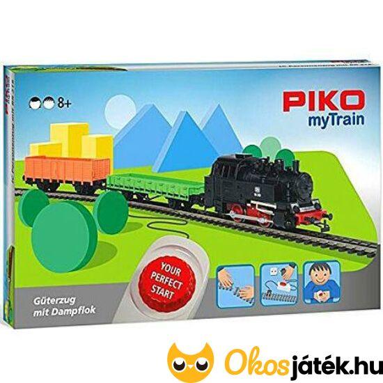 """PIKO vonat kezdőkészlet - my Train Startszett Tehervonat Gőzmozdonnyal  57092/57091 (MH) """"Utolsó darabok"""""""