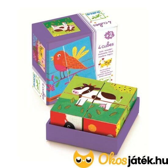 Kocka képkirakó játék Djeco 2*2-es - DJ1900 (BO)