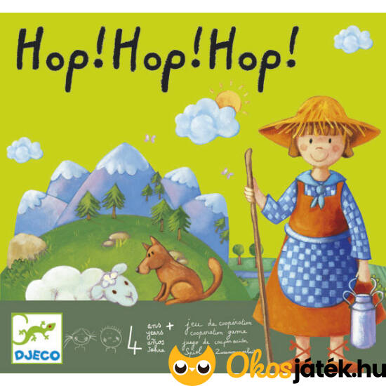 Hop! Hop! Hop! Kooperatív társasjáték 3 éves kortól - DJ 8408 NFT