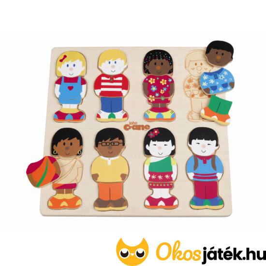 """Fa öltöztetős játék - kis barátok (Little friends) JC T-0022 (JC) """"Utolsó darabok"""""""