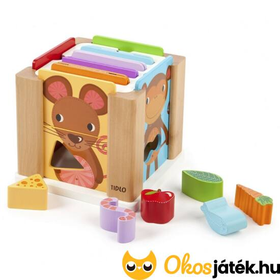 "Formaberakó, 2 darabos puzzle fajáték gyerekeknek - Animal sorting - JC T-0209 (JC) ""Utolsó darabok"""