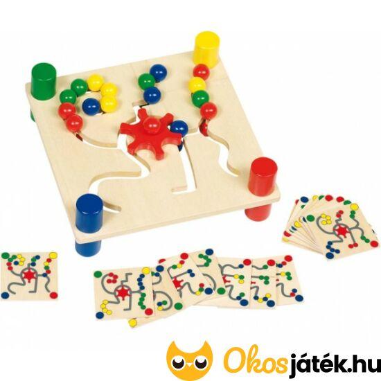 Golyós színkirakó - golyóvezető játék (fogaskerekes) - Goki 58913 (HO)