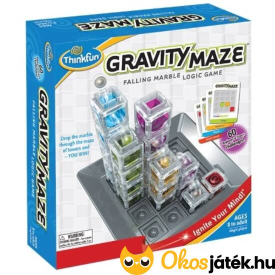 Gravity Maze - ThinkFun - golyópálya építő logikai játék