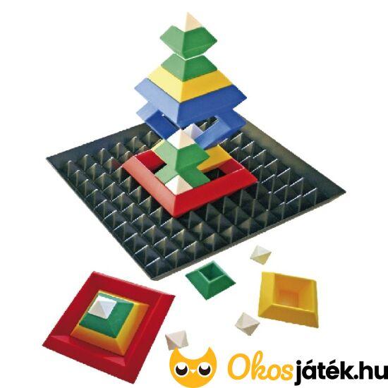 Háromszögek és négyszögek építő játék alaplappal - Triangle Puzzle - ED 120074