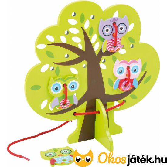 fűzős játék fa