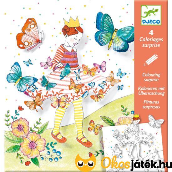 Pillangó kisasszony színező