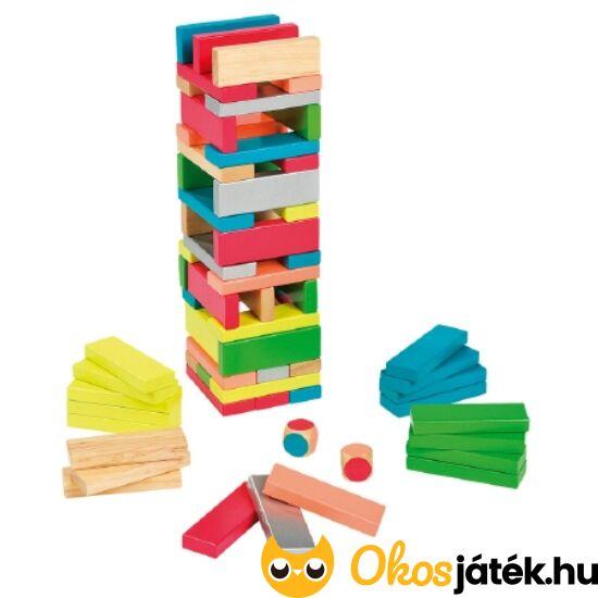 Jenga ügyességi fa torony, színes - Janod 2012 (NT)