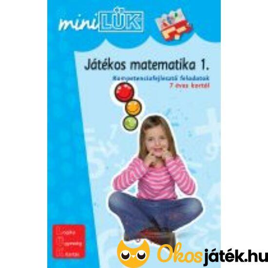 """Játékos matematika 1. LÜK Mini feladatlapok LDI218 (DI) """"Utolsó darabok"""""""