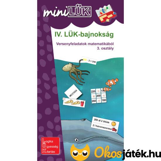 IV. LÜK-bajnokság matematikából 3.o. - LÜK Mini füzet LDI518 (DI)
