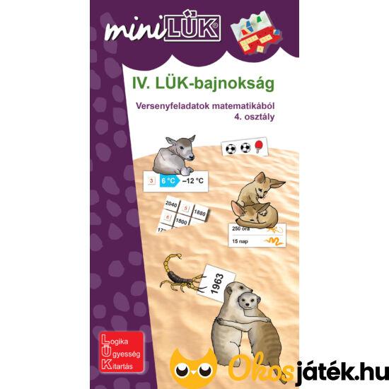 """IV. LÜK-bajnokság matematikából 4.o. - LÜK Mini füzet LDI520 (DI) """"Utolsó darabok"""""""
