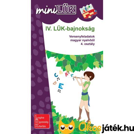 """IV. LÜK-bajnokság magyar nyelvből 4.o. - LÜK Mini füzet LDI521 (DI) """"Utolsó darabok"""""""