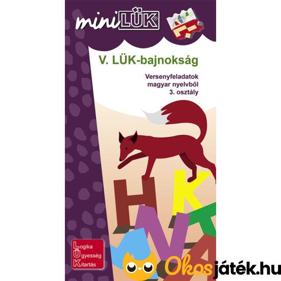 V. LÜK-bajnokság magyar nyelvtanból 3.o. - LÜK Mini füzet LDI-527 NFT