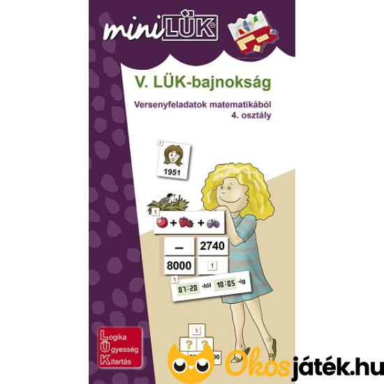 V. LÜK-bajnokság matematikából 4.o. - LÜK Mini füzet LDI528 (DI)