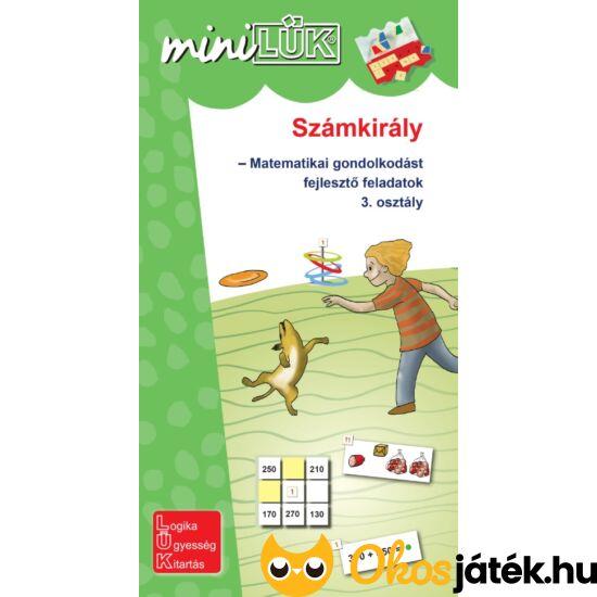 Számkirály matematikai feladatok 3.o. - LÜK Mini füzet LDI-534