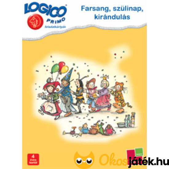 "LOGICO Primo feladatlapok - Farsang (3213) 4+ (TF) ""Utolsó darabok"""