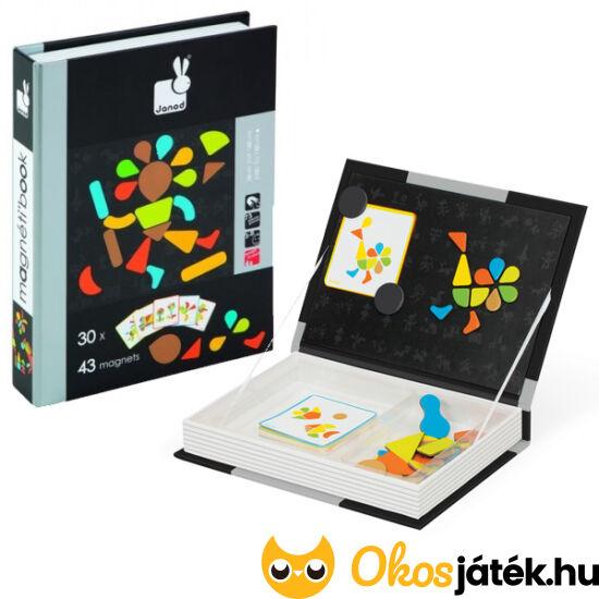Mágneskönyv, mágneses képkirakó tangram játék - Janod 2820 (NT)