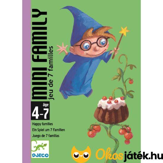 """Mini Family quartett kártyajáték - Djeco 5101 (BO) """"utolsó darabok"""""""