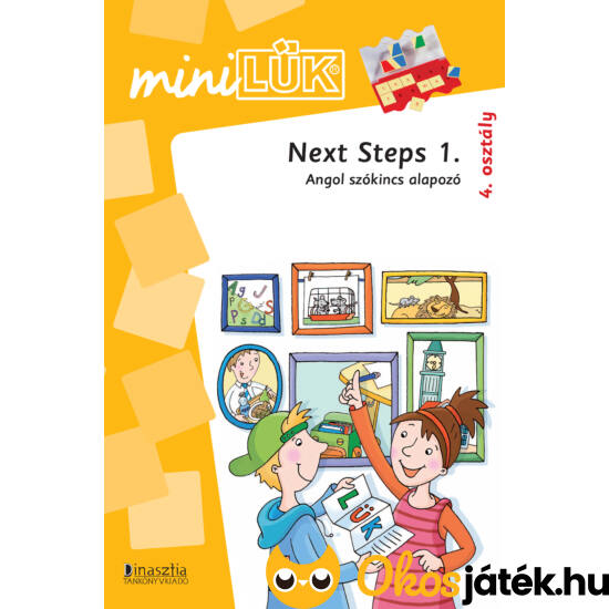 Next Steps 1 angol szókincs feladatok LÜK Mini füzet 4. osztály (LDI316) (DI)