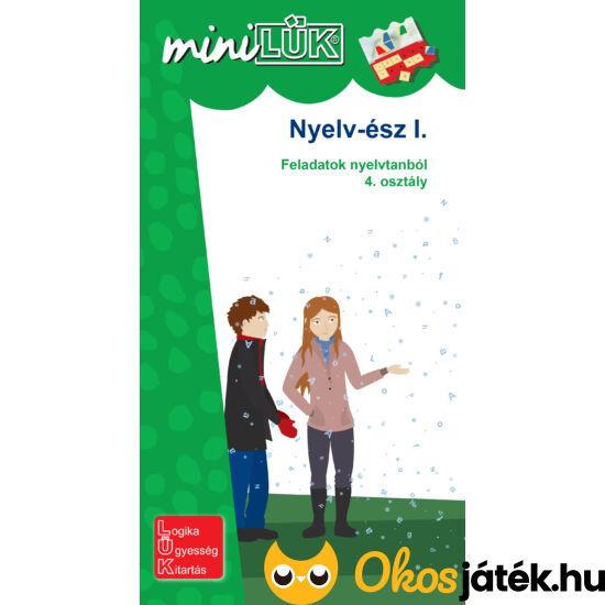 """Nyelv-ész I. nyelvtan gyakorló feladatok 4. osztály LÜK Mini  LDI241 (DI) """"Utolsó darabok"""""""